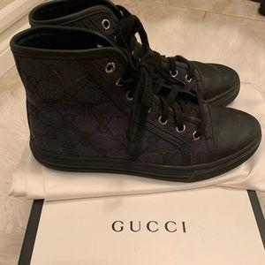 Gucci Brooklyn GG Supreme High Too Sneaker 34 1/2